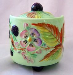 Honey Jars, Green China, Sugar Pot, Toast Rack, English Pottery, Carlton Ware, Ceramic Boxes, English China, Cheese Dishes