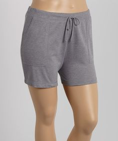 Look at this Oxford Gray Shorts - Plus on #zulily today!