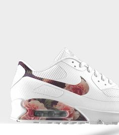 Floral mix on these Nike Air Max 90s. #sneakers #Fashion