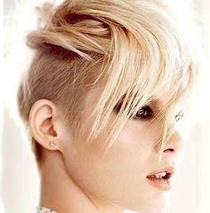 Side shaved hair for women
