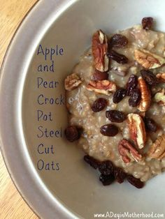 Apple and Pear Crock Pot Steel Cut Oats
