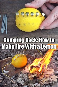 Camping Hack: How to Make Fire With a Lemon (Fact or Fiction?) - I thought this was a pretty clever, although not terribly practical idea. While you may not have these types of items lying around (zinc nails anyone? :)), it just goes to show you what might be possible if SHTF.