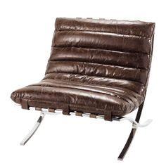 Armchair Brown leather B.