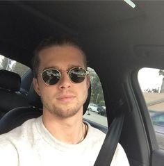 Actor Drew Van Acker wearing sunglasses