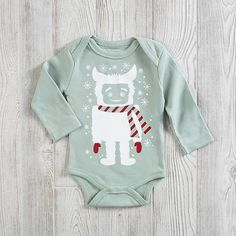 Organic cotton 6-12 Month Earth Cadets One-Piece (Yeti)  | The Land of Nod