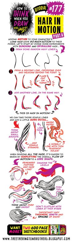 The Etherington Brothers: How to THINK when you draw HAIR IN MOTION tutorial #SkillUpSunday!