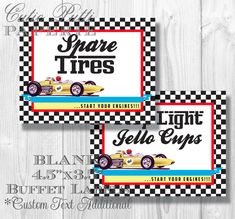 Race Car Party Candy Buffet Signs by Cutie Putti Paperie Race Car Party, Race Cars, Boy Birthday Parties, Themed Parties, 5th Birthday, Birthday Ideas, Candy Buffet Signs, Dessert Buffet Table, Transportation Birthday