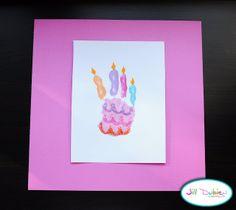 handprint birthday cake | Meet the Dubiens  Do this for Averi's 5th Birthday!