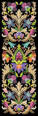 Antique Tapestry Pattern The Medici Fender-Stool Ornament Bell Pull Tapestry Multicolor Counted Cross Stitch Pattern PDF by MyTreasureIsland on Etsy https://www.etsy.com/listing/223330067/antique-tapestry-pattern-the-medici