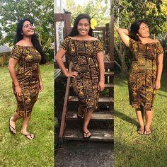 Island Wear, Island Outfit, Polynesian Designs, Samoan Designs, Samoan Dress, Island Style Clothing, Hawaiian Fashion, Tropical Dress, Tapas