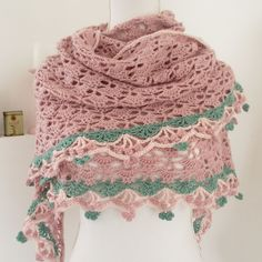 Tranquility Shawl made by VanDani. Free pattern with charts by Drops here http://www.garnstudio.com/lang/us/pattern.php?id=5590&lang=us