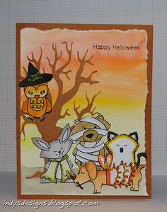 Halloween Card for by Indy for  Newton's Nook Designs Inky Paws Challenge -Boo Crew Stamp set
