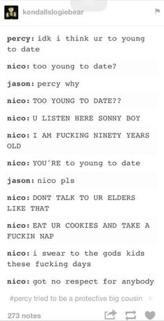OMG WOW this is great i mean but Hazel could do this too I always forget how old Nico is...