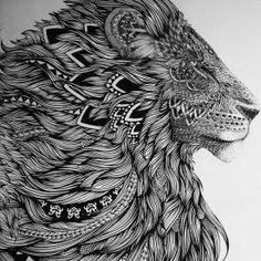 Лев в восточном стиле