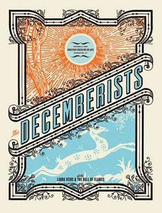 decemberists concert poster