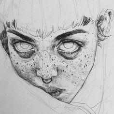 Eyes artwork, face diy, face sketch, drawing sketches, art d Face Sketch, Drawing Sketches, Art Drawings, Pencil Drawings, Drawing Ideas, Drawing With Pencil, Pencil Drawing Tutorials, Drawing Drawing, Art Inspo