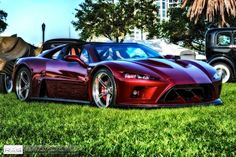 The latest Falcon F7 all-American supercar to leave the shop and be ready for customer delivery is this deep red 2014 model on 20-inch Forgeline SC3C Concave wheels finished with Transparent Smoke centers and Polished outers. See more at: http://www.forgeline.com/customer_gallery_view.php?cvk=1071  #Forgeline #SC3C #notjustanotherprettywheel #madeinUSA #Falcon #F7 #supercar