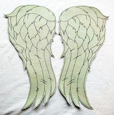 Daryl Dixon The Walking Dead  Angel Wings Vest back patch - Acid Wash