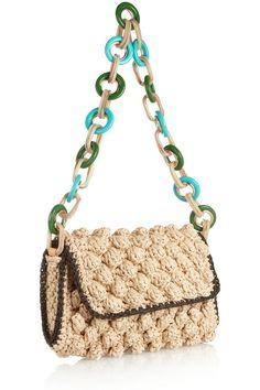 M Missoni|Woven-raffia shoulder bag