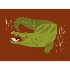 Oopsy daisy Wild Croc s Helper by Eleanor Grosch 14x10 in Review Buy Now