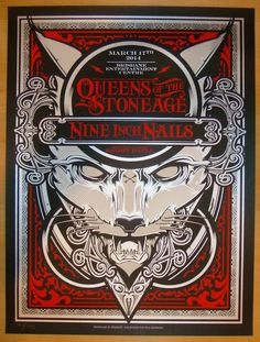 Nine Inch Nails w/ Queens of the Stone Age and Brody Dalle - silkscreen concert poster (click image for more detail) Artist: Hydro74 Venue: Brisbane Entertainment Centre Location: Brisbane, Australia