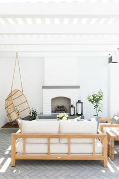 Home exterior california outdoor spaces 27 Ideas for 2019 Studio Mcgee, Outdoor Rooms, Outdoor Living, Outdoor Decor, Outdoor Patios, Outdoor Kitchens, Adirondack Furniture, Outdoor Furniture, Adirondack Chairs