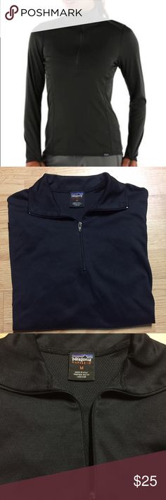Patagonia Women's Capilene Midweight Zip Neck Good Condition Patagonia Tops Tees - Long Sleeve