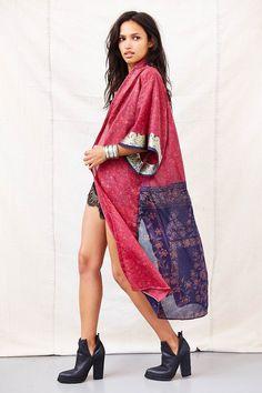 Urban Renewal Pieced Sari Kimono Jacket #UrbanOutfitters