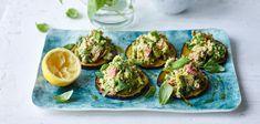 Auberginen mit Thunfisch-Avocado-Rillette