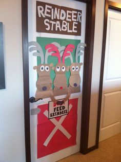 Where we keep the reindeer! (Thanks to Pinterest for the idea!)