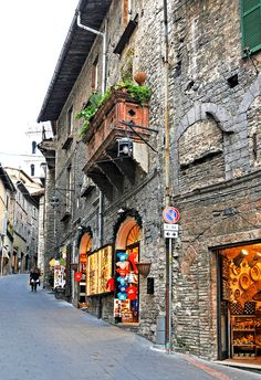 ~Narrow Streets in Assisi, province of Perugia , Umbria region Italy