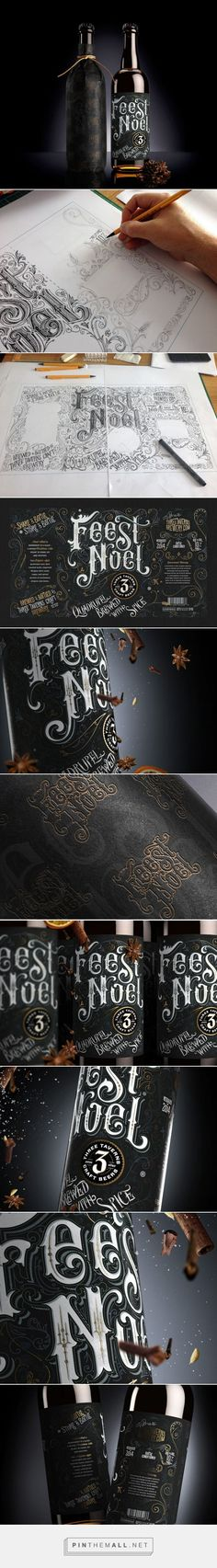 Feest Noel #ale #packaging designed by Anton Burmistrov - http://www.packagingoftheworld.com/2015/03/feest-noel.html: (Gin Bottle Sketch)