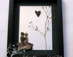 Pebble Art Wedding Gift Unique Engagement Gift por MedhaRode