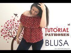 DIY Tutorial y patrones: Blusa para mujer - YouTube