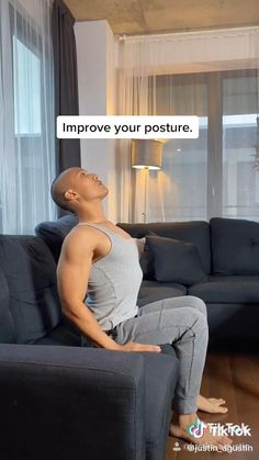 Better Posture Exercises, Back Exercises, Stretches, Post Baby Workout, Push Up Workout, Workout Videos, Workouts, Fitness Workout For Women, Senior Fitness
