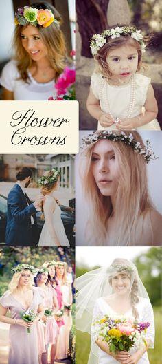 Flower Crowns {Wedding Inspiration} - Storkie Blog