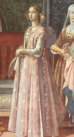 Giornea: an open sided over gown from late 15th century Florence (4 portraits + pattern review)