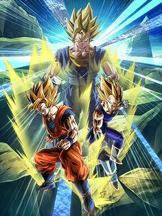 [Super Powered Fusion] Super Saiyan Goku & Super Saiyan Vegeta/Dragon Ball Z: Dokkan Battle