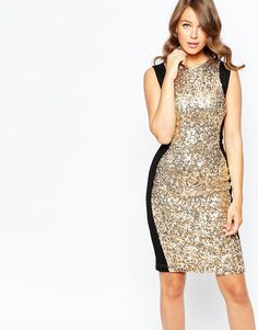 French Connection Lunar Sparkle Body-Conscious Dress
