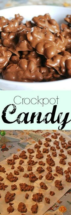 Crockpot Candy Recipe - I make at least 2 batches of this every Christmas. It's… Crock Pot Desserts, Just Desserts, Delicious Desserts, Yummy Food, Candy Recipes, Holiday Recipes, Dessert Recipes, Christmas Recipes, Drink Recipes