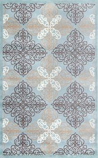 Safavieh Pirouette Hand-Tufted Wool Blue/Brown Area Rug Rug Size: Rectangle x Brown Rug, Blue Brown, Simple Bathroom Designs, Seaside Theme, Robins Egg, Rugs Usa, Rectangular Rugs, Quatrefoil, Traditional Rugs