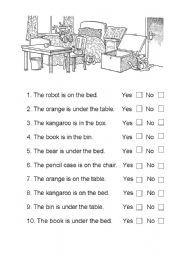 English teaching worksheets: Prepositions