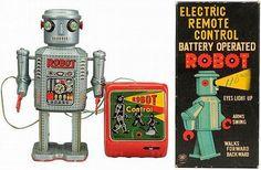 Retro Robots packaging #retro #robot #packaging #vintage