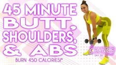 45 Minute Workout, Month Workout Challenge, Workout Videos, Exercise Videos, Workout Tips, Workout Routines, Workout Calendar, High Intensity Interval Training, Shoulder Workout
