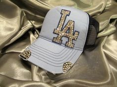 Bling Hats Trucker Hats LA LA Dodgers Dodgers by TheApicellaEdge