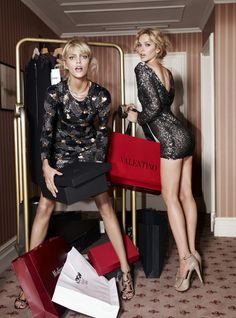 Anja Rubik and Magda Mielcarz in Viva!  Love it ! xo