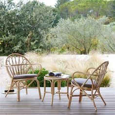 Canapé de jardin rotin naturel, Grand-Père KOK | Deco | Pinterest