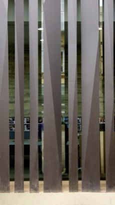 Sant Antoni - Joan Oliver Library / RCR Arquitectes - 28 Gallery of Sant Antoni - Joan Oliver Library / RCR Arquitectes - of Sant Antoni - Joan Oliver Library / RCR Arquitectes - 28 Facade Design, Fence Design, Partition Screen, Compound Wall, Boundary Walls, Metal Screen, Building Facade, Facade Architecture, Interior Walls