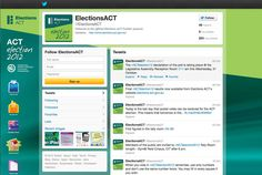 2B Advertising & Design - Elections ACT Twitter Page