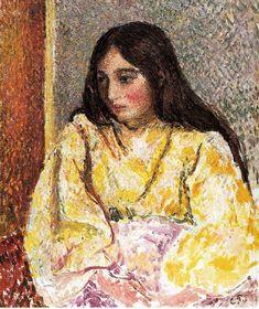 Retrato de Jeanne - Camille Pissarro. Puntillismo